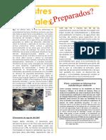 Desastres Naturales - FICHA SEMINARIO GEOGRAFÍA N°1