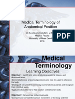 Medical Terminology of Anatomical Positions - Fk Undana Lsit 2016