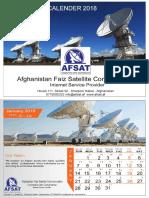 Calendar 2018 - Afghanistan Faiz Satellite Communication (AFSAT Communication) - Shamsi Calendar 1396 - 1397