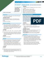 B2+ UNIT 8 Everyday English teacher's notes