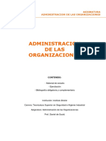 Unidades I, II, III y VI - Administración de Las Organizaciones