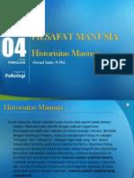 Filsafat Manusia 4-Historisitas Manusia