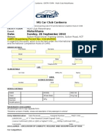 MGCC Entry Form 26 September 2010