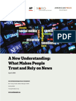 What Makes People Trust & Rely on News?