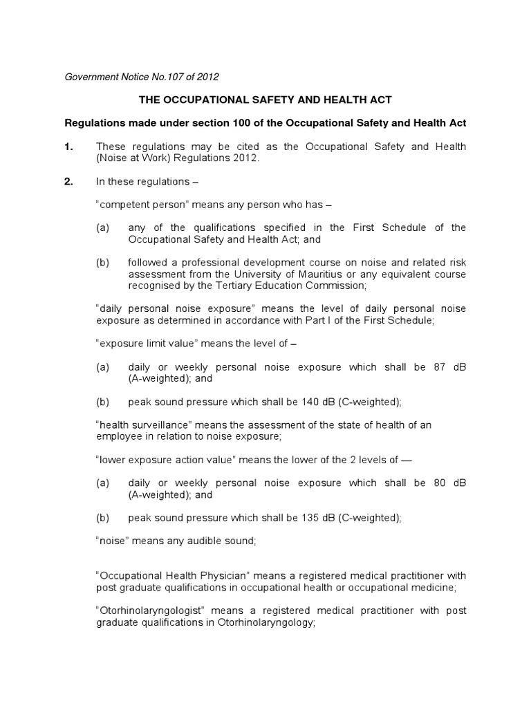 8  OSH (Noise at Work) Regulations 2012 pdf   Noise (6 views)