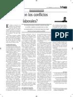Qué Son Los Conflictos Laborales - Autor José María Pacori Cari