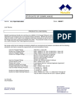 USP Fab Metalfit Certificate of Compliance