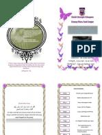 Buku Program Majlis Berbuka Puasa