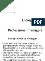 Day-7 Entrepreneur vs Manager