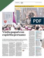 Visita Papal Con Espíritu Peruano