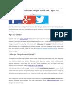 Cara Membuat Email Gmail Dengan Mudah Dan Cepat 2017