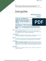 DTU 60.11 P1-1 Regles de Calcul Alim EFS-ECS