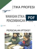 1.2.Wawasan Etika Dalam IPTEKS