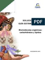 2 Biomoléculas Orgánicas Carbohidratos y Lípidos SOLUCIONARIO