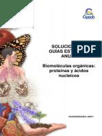 3 Biomoléculas Orgánicas Proteínas y Ácidos Nucleicos SOLUCIONARIO