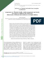 Effectiveness of Lifestyle Intervention in Overweight Children