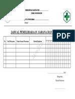 EP2.Jadual Pemeliharaan Sarana