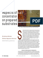 Aspects of Salt Concentration on Prepared Steel Substrates