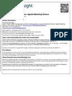 Developments in Airline Marketing Practice