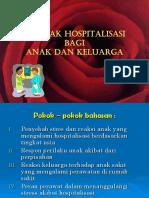 Dampak Hospitalisasi Bagi Anak Dan Keluarga