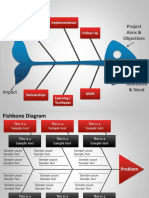 1019 Fishbone Cause and Effect Diagram for Powerpoint
