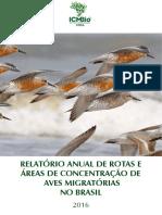 Relatório Anual de Aves Migratórias - ICMBio 2016