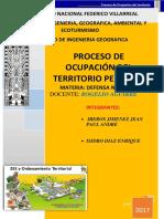 Trabajo-proceso de Ocupacion Del Territorio Peruano