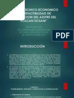 Estudio Tecnico Economico de Prefactibilidad de Explotacion