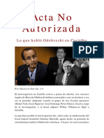 IDL Reporteros - Acta No Autorizada  - Interrogatorio  a Marcelo Odebrecht