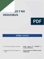 Principales Gastos Deducibles y No Deducibles DIC 2015