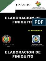finiquito bolivia