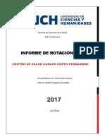Informe de Rotación de internado CRED
