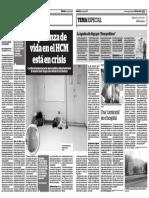 Diario 2001 Esperanza de vida en el HCM  está en crisis