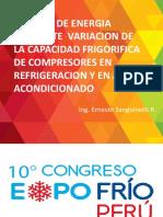 Ahorro de Energia Variando La Capacidad de Compresores de AA y Ref.
