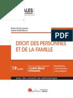 Lextenso étudiant - Droit des personnes et de la famille (corrigé détaillé)