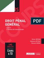Lextenso étudiant - Droit pénal général (corrigé détaillé)