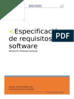 Plantilla REQUISITOS Estándar IEEE 830 IngSoft I