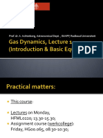 Gas Dynamics, Lecture 1