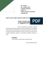 Escrito Angello - Pago de Consignación - Noviembre