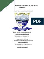PA Programa Analitico Investigacion y Bioestadistica