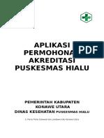 Aplikasi Permohonan Akreditas Puskesmas Hialu