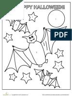 Halloween Bat Coloring
