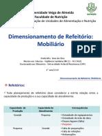 Dimensionamento de Refeitório - Mobiliário