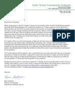 parent letter for reading law