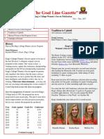 King's College Women's Soccer (PA) Newsletter Nov - Dec 2017