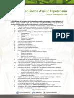 Requisitos Para Avaluo Hipotecario 2017