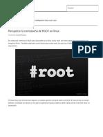 Recuperar La Contraseña de ROOT en Linux - OperativosLinux