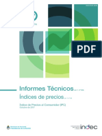 IPC INDEC Octubre 2017