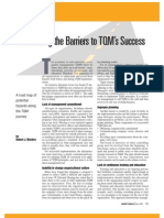 Barriers of Tqm