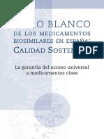 Libro Blanco de Los Medicamentos Biosimilares